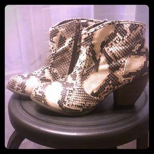 Qupid snake skin booties- size 8.5